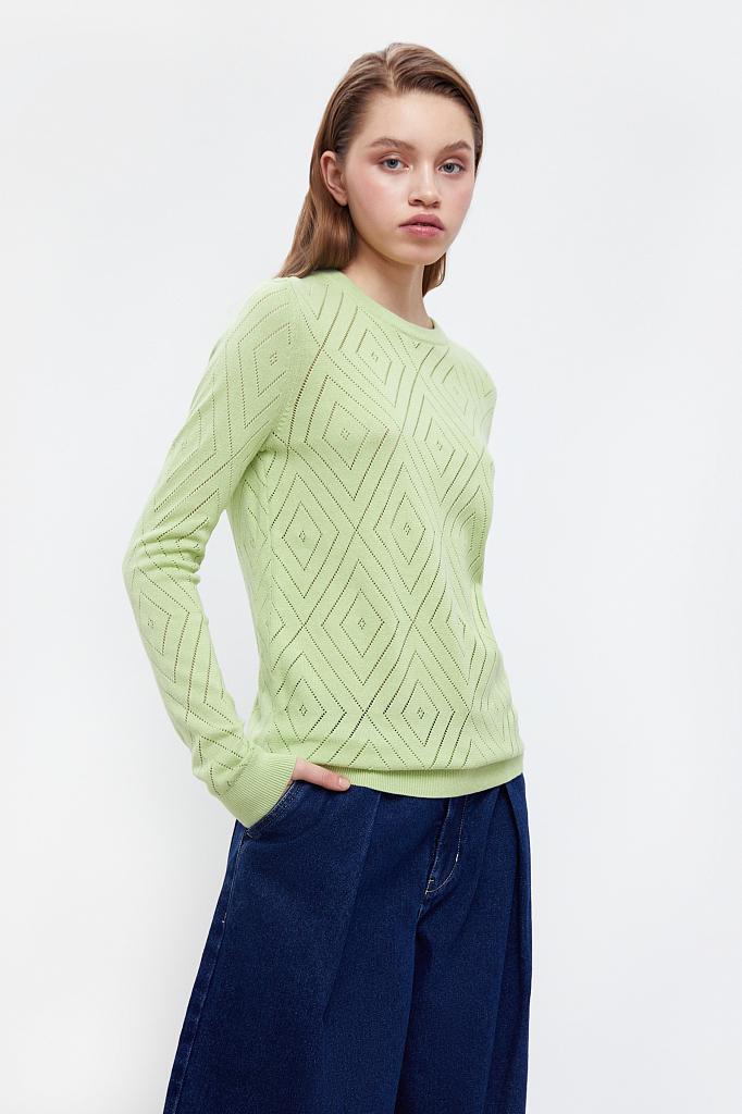 Фото 2 - джемпер женский салатового цвета