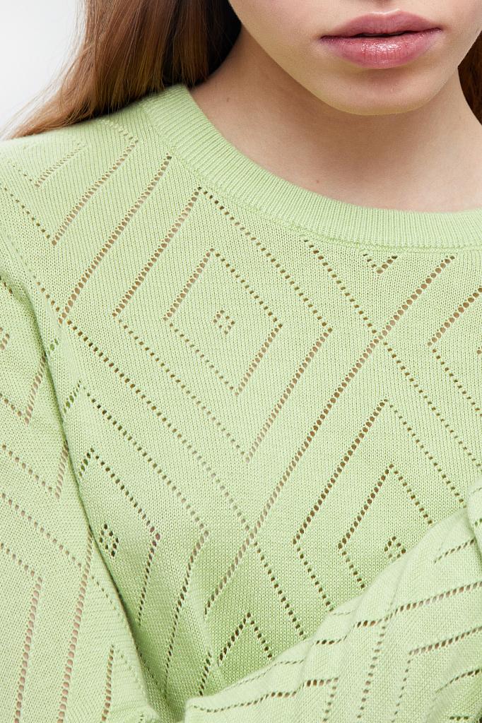 Фото 4 - джемпер женский салатового цвета