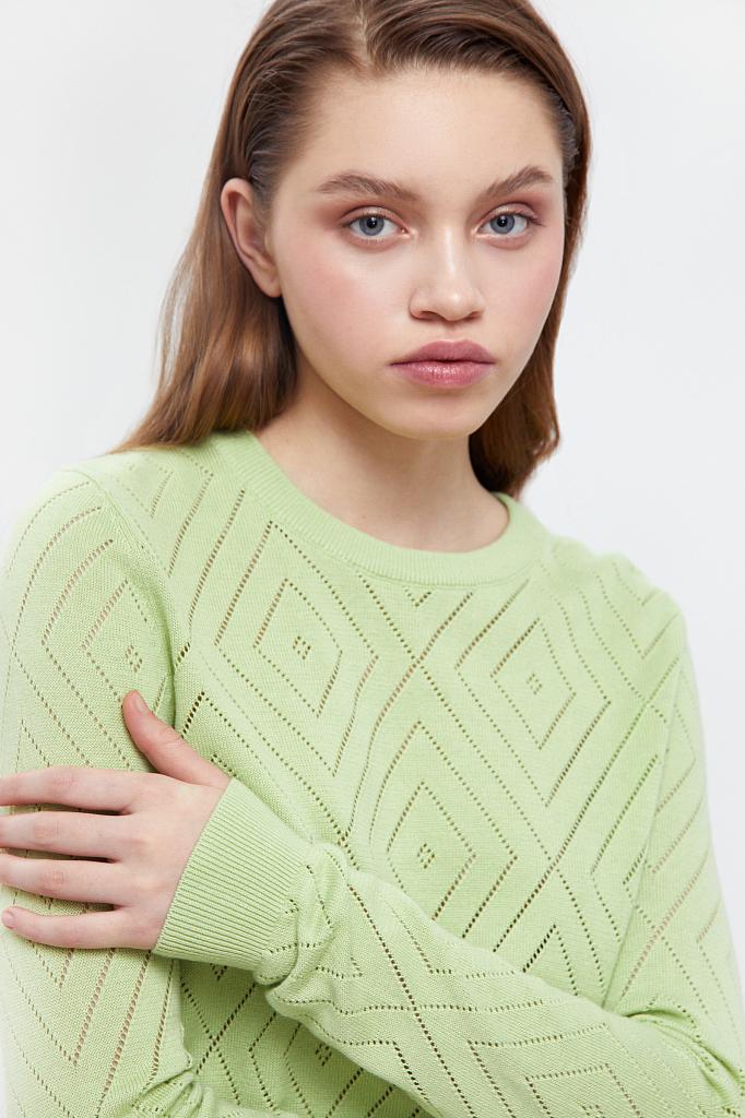 Фото 5 - джемпер женский салатового цвета