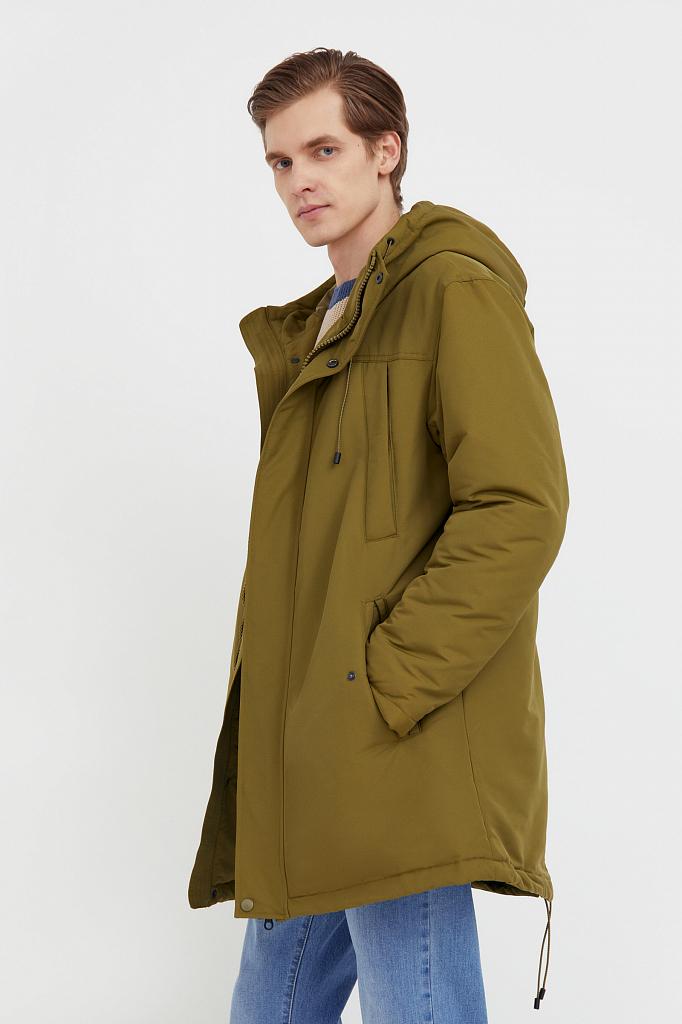 полупальто мужское Finn-Flare оливкового цвета