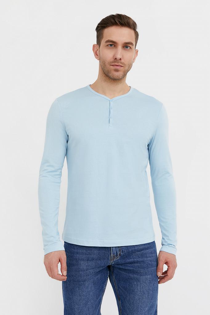футболка мужская Finn-Flare серо-голубого цвета