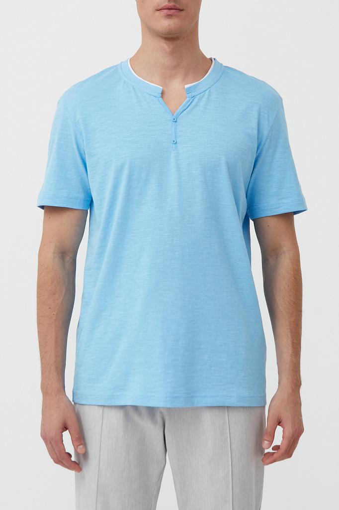 футболка мужская Finn-Flare голубого цвета
