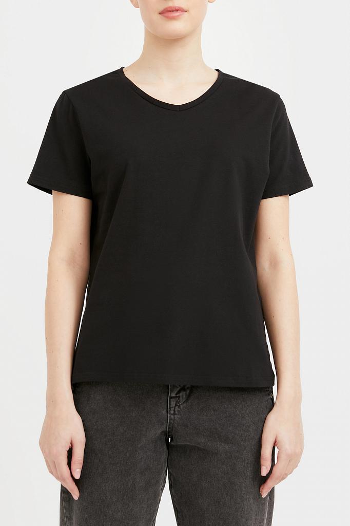 базовая футболка с v-образным вырезом