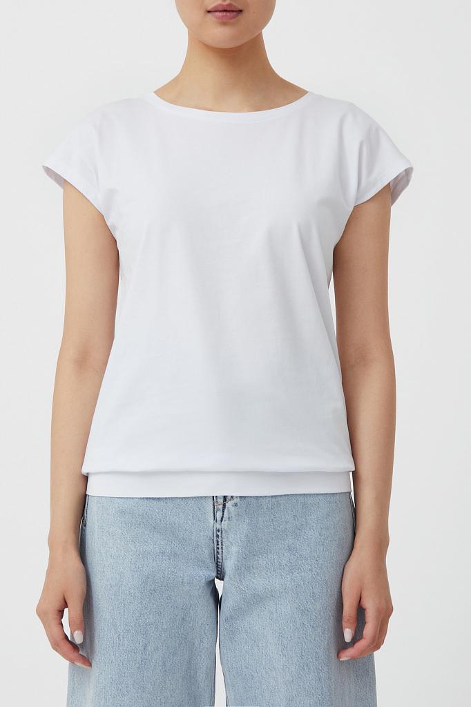 футболка женская Finn-Flare белого цвета