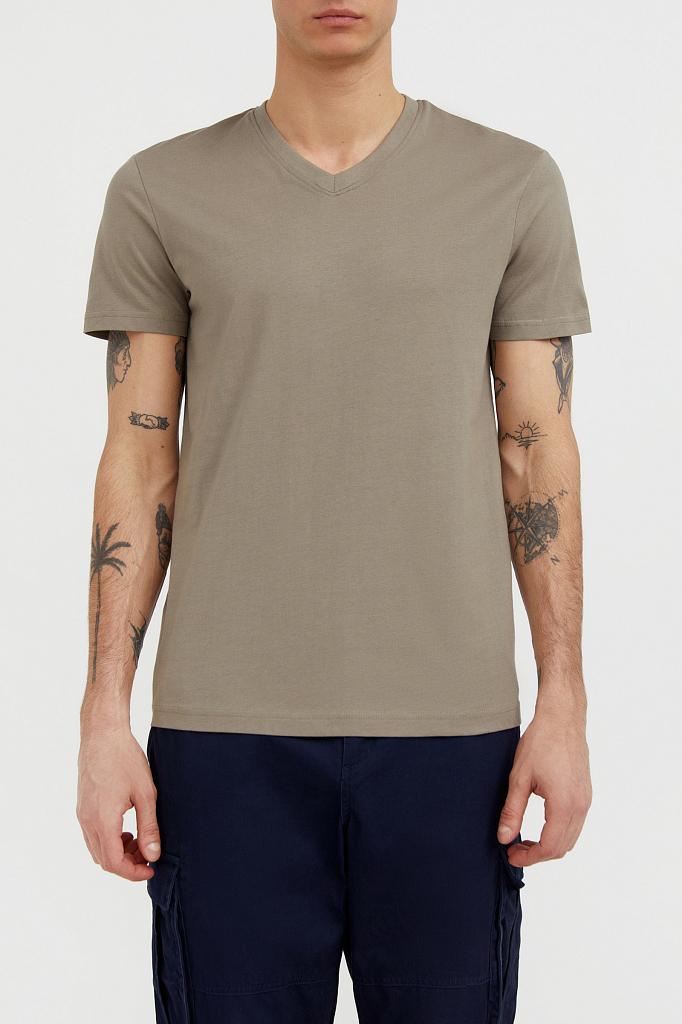 футболка мужская Finn-Flare светло-коричневого цвета