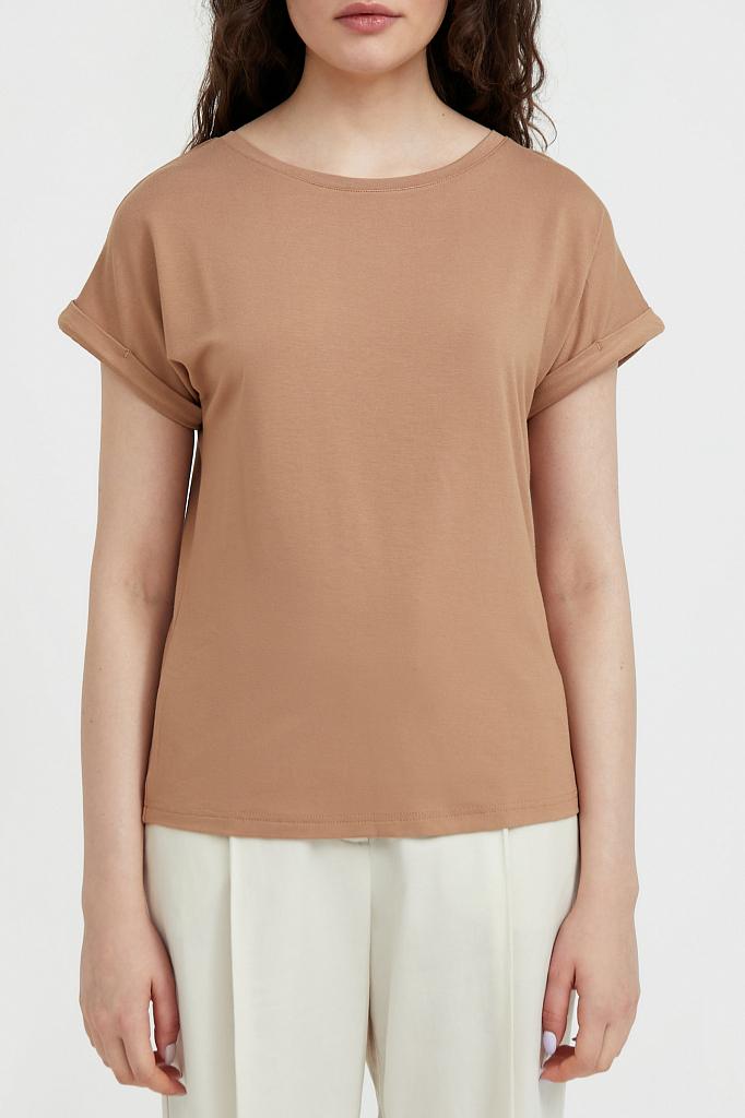 футболка женская Finn-Flare цвет корица