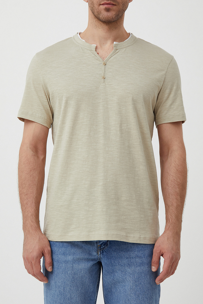 футболка мужская Finn-Flare бежевого цвета