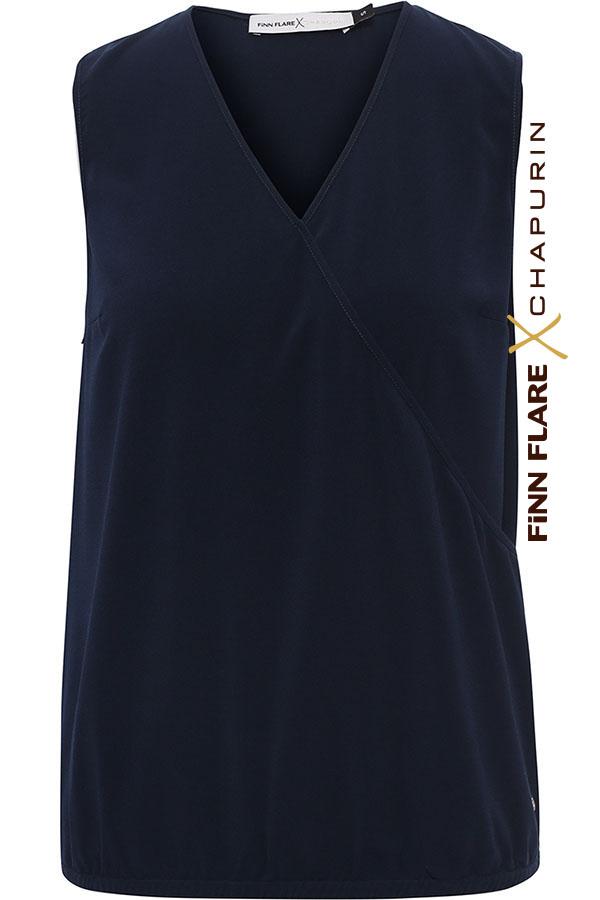 Фото - блузка женская темно-синего цвета
