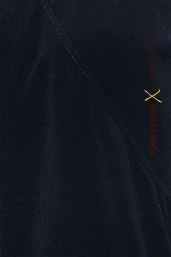 Фото 6 - блузка женская темно-синего цвета