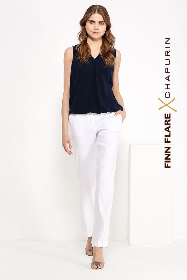 Фото 2 - блузка женская темно-синего цвета