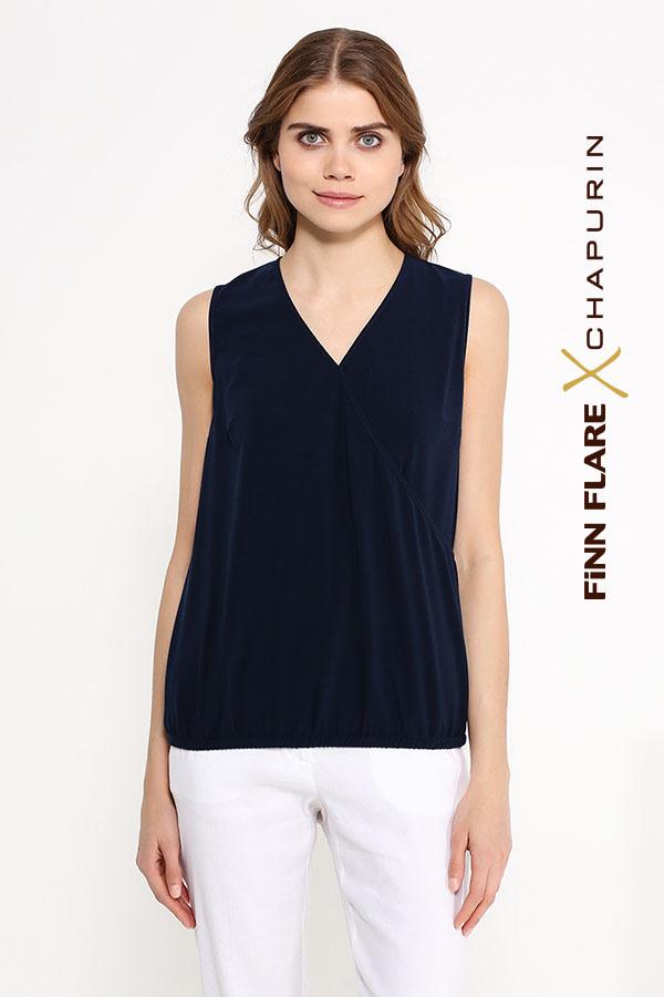 Фото 3 - блузка женская темно-синего цвета