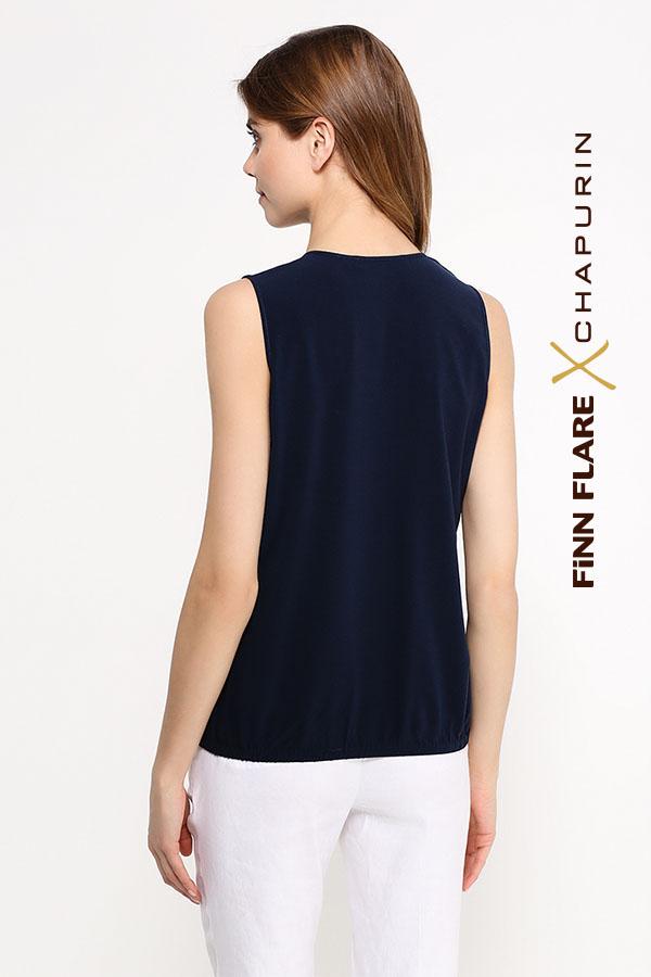 Фото 4 - блузка женская темно-синего цвета