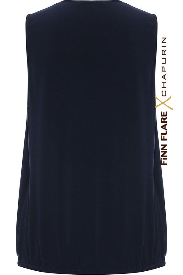 Фото 5 - блузка женская темно-синего цвета