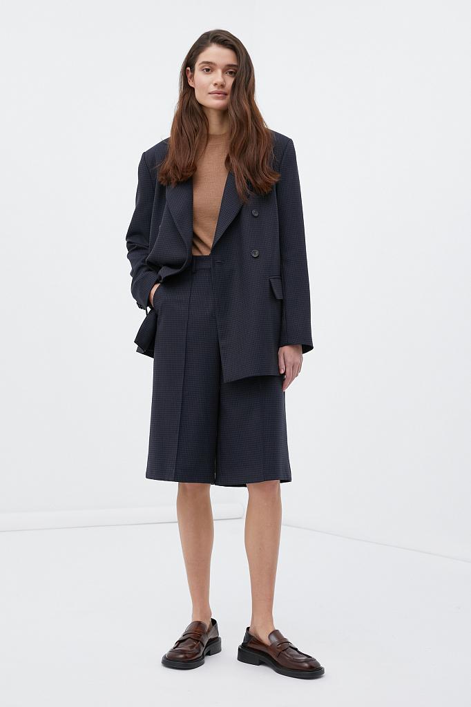 брюки женские Finn-Flare темно-синего цвета