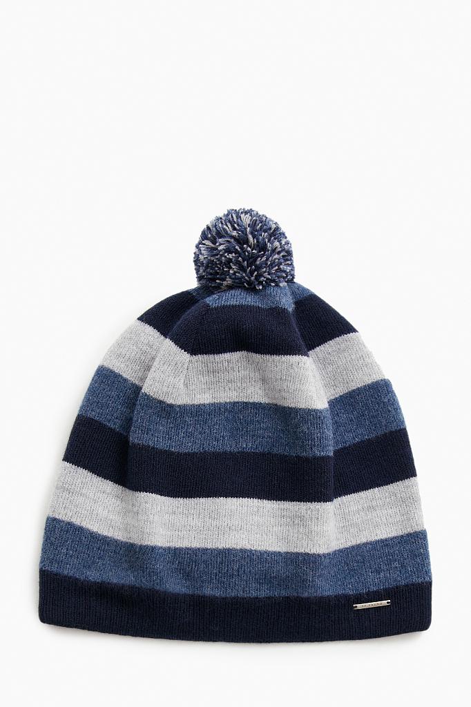 шапка мужская Finn-Flare темно-синего цвета