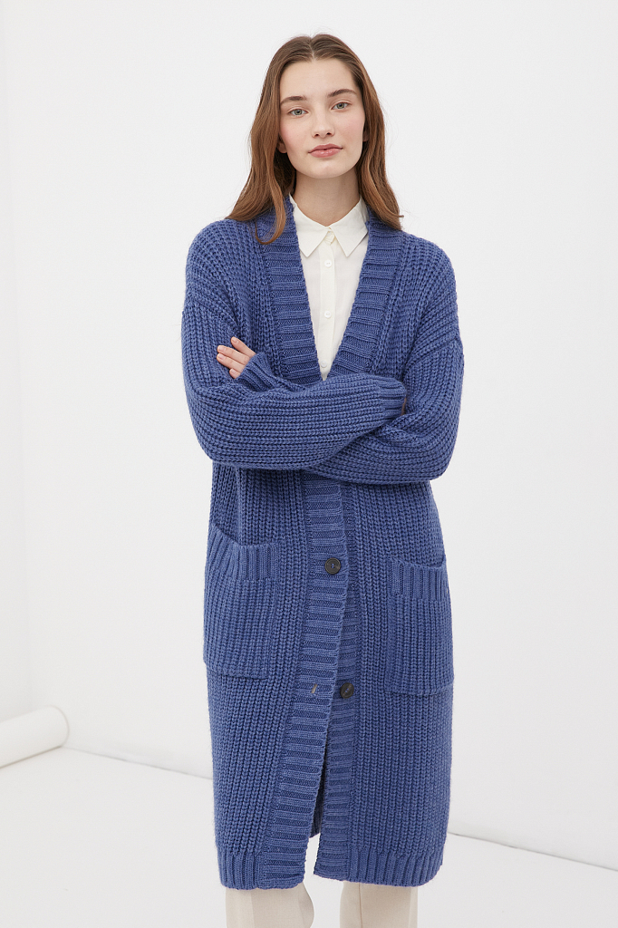 пальто женское с шерстью Finn-Flare
