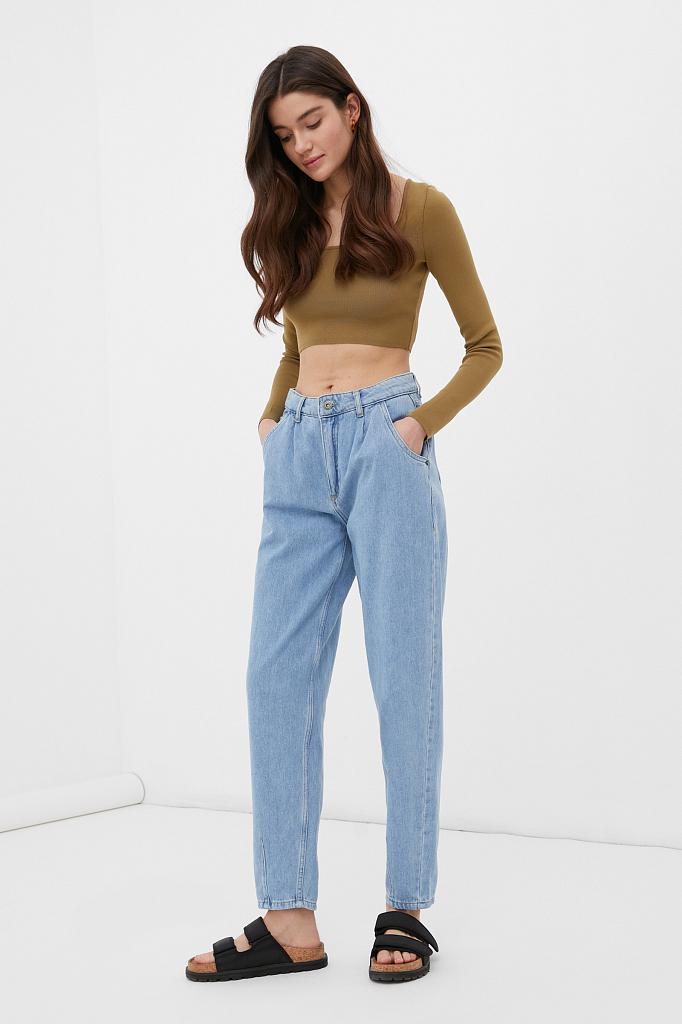 джинсы женские tapered fit кроя багги
