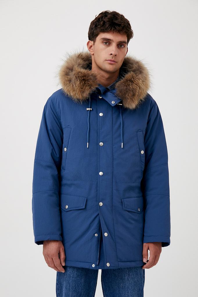 пальто мужское Finn-Flare темно-синего цвета