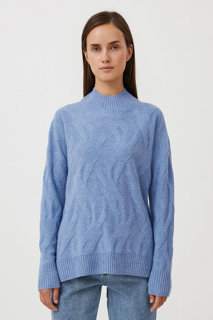 джемпер женский Finn-Flare голубого цвета