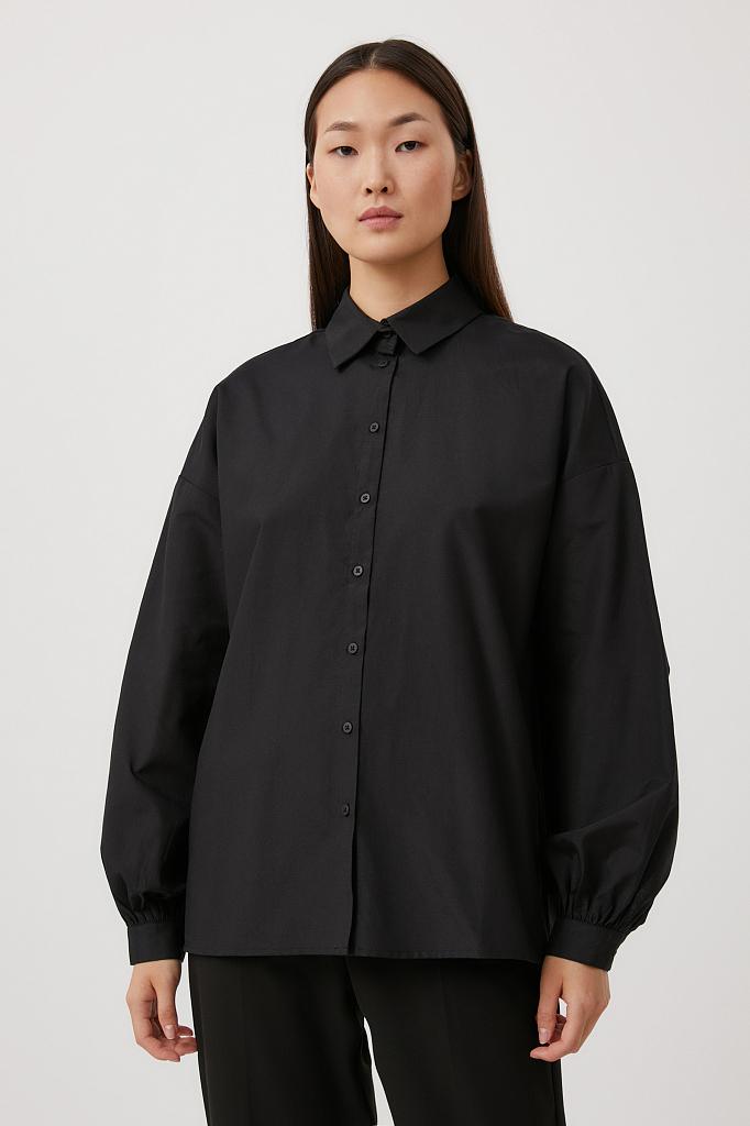 блузка женская Finn-Flare черного цвета
