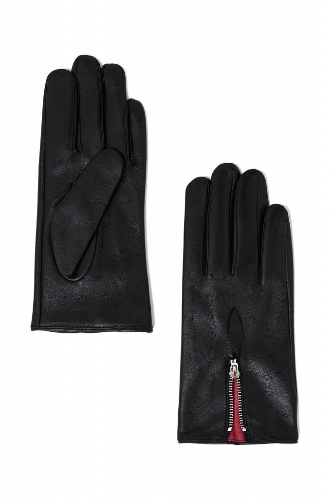 перчатки женские Finn-Flare черного цвета