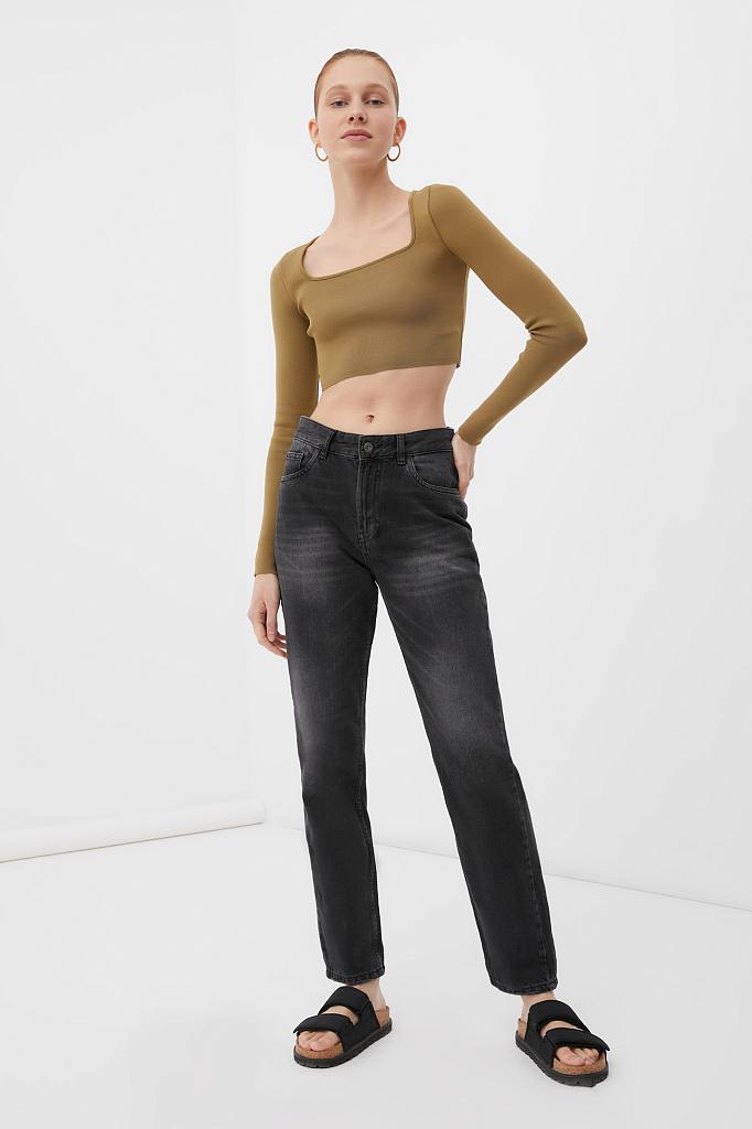 классические женские прямые джинсы straight fit