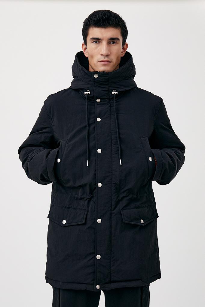 пальто мужское Finn-Flare черного цвета