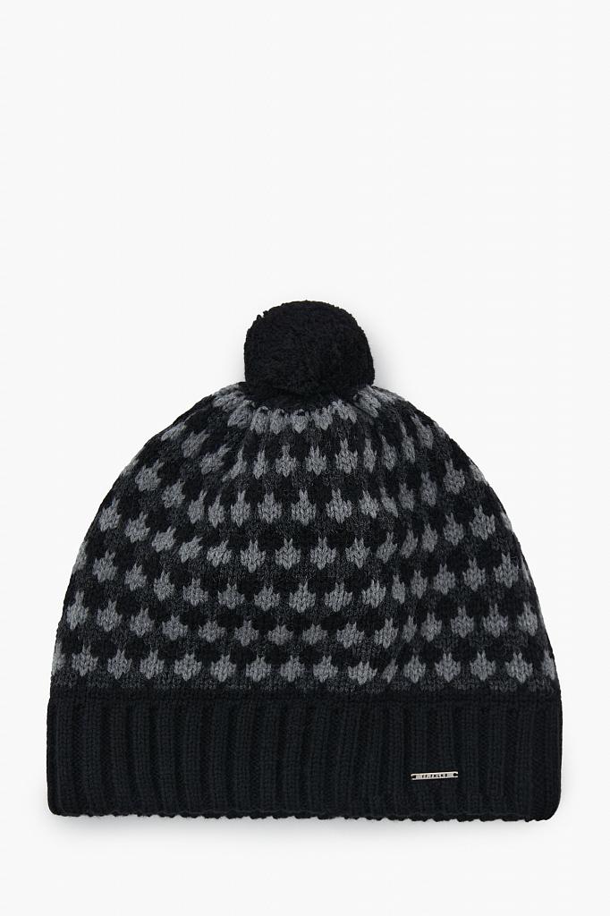 шапка мужская Finn-Flare черного цвета