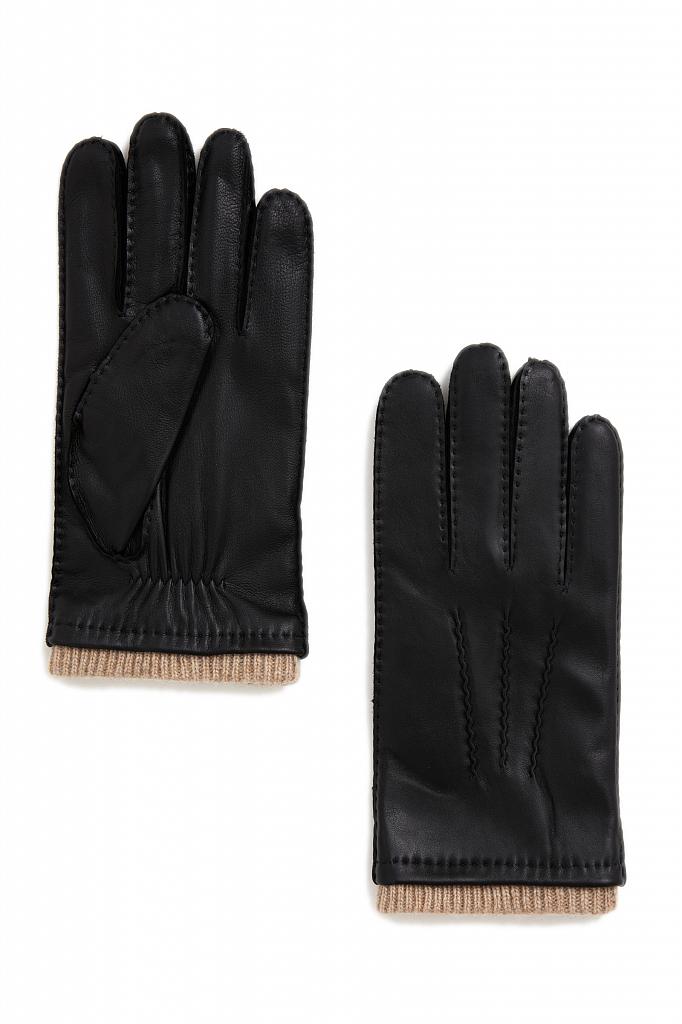 перчатки мужские Finn-Flare черного цвета