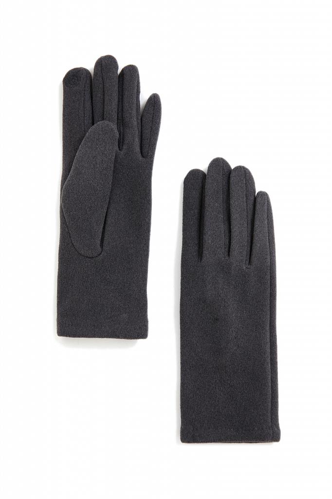 перчатки женские Finn-Flare темно-серого цвета