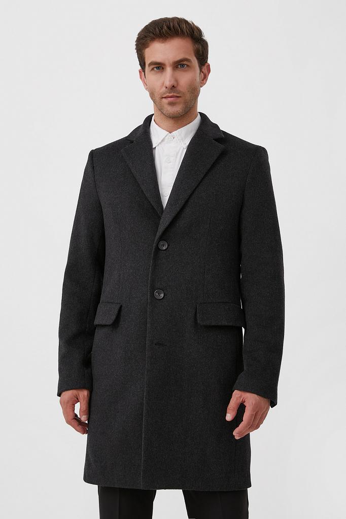 пальто мужское Finn-Flare темно-серого цвета