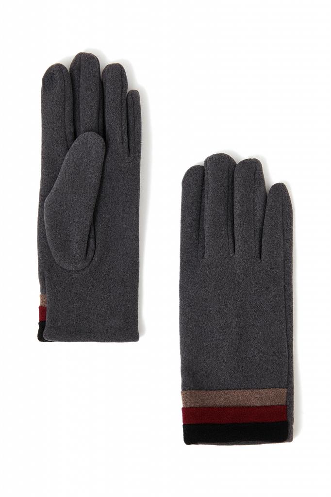 перчатки женские Finn-Flare серого цвета