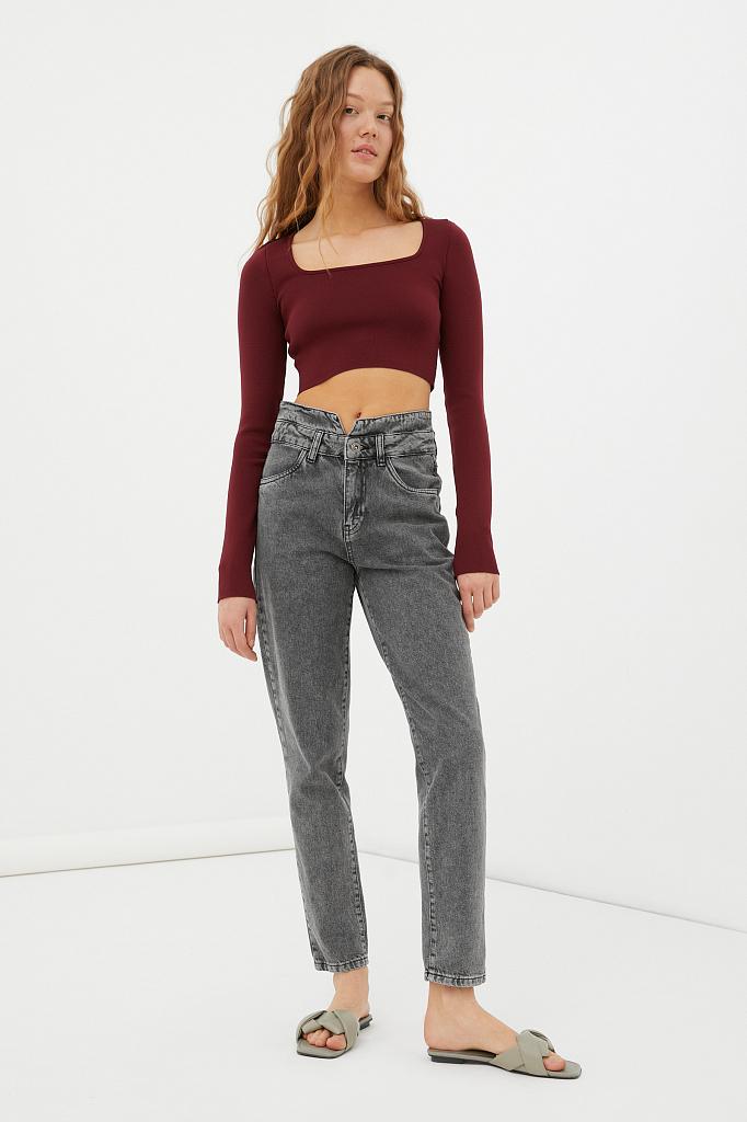 женские джинсы tapered fit с