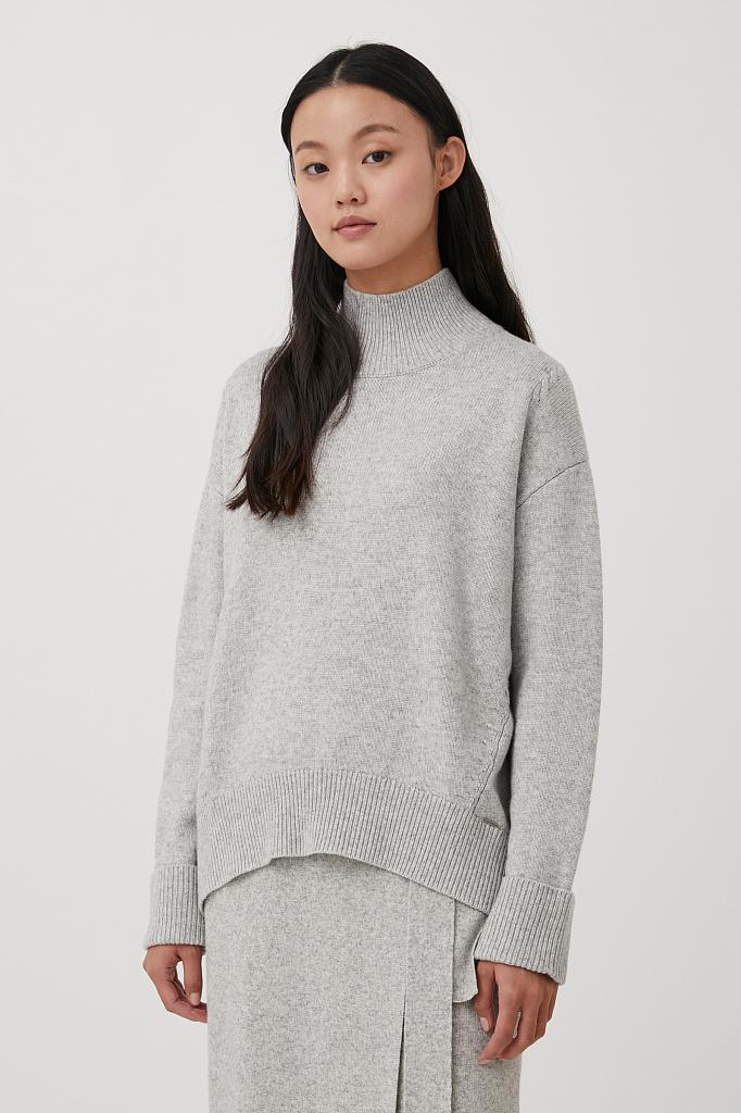 свитер женский оверсайз с шерстью и кашемиром