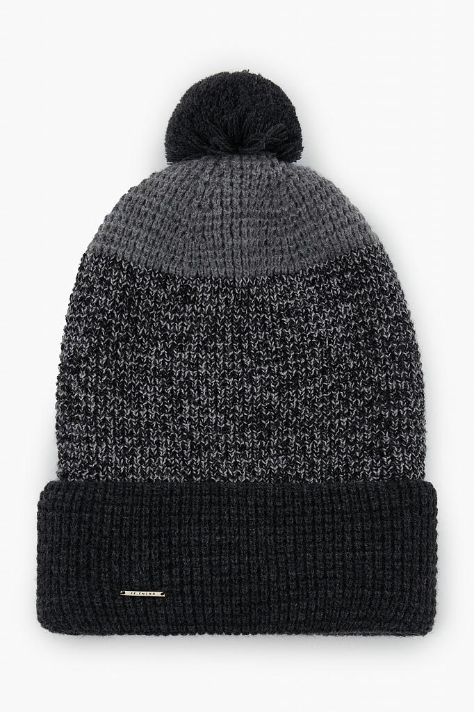 шапка мужская Finn-Flare темно-серого цвета