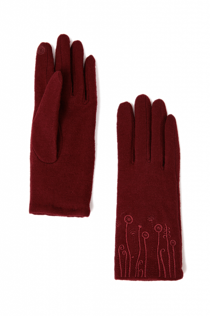 перчатки женские Finn-Flare цвет вишневый