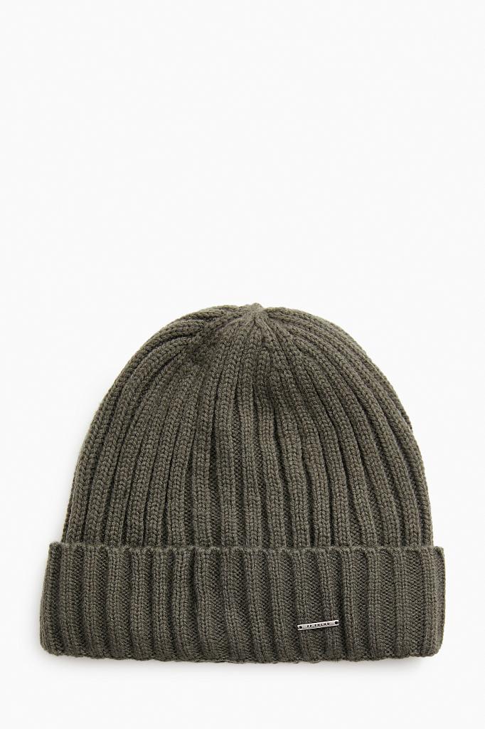 шапка мужская Finn-Flare темно-зеленого цвета