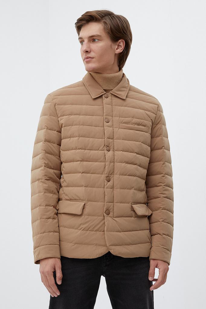 куртка мужская Finn-Flare темно-бежевого цвета