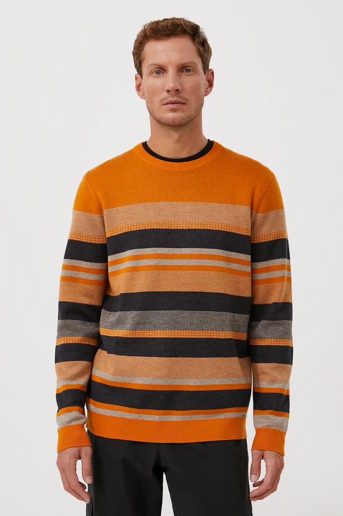 мужской джемпер с шерстью в стиле color block