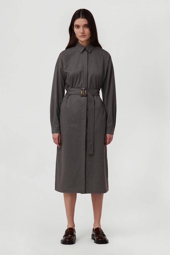 платье-рубашка женское из мягкой смесовой ткани Finn-Flare