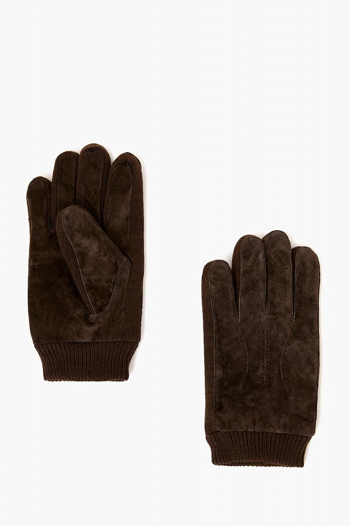 перчатки мужские Finn-Flare темно-коричневого цвета