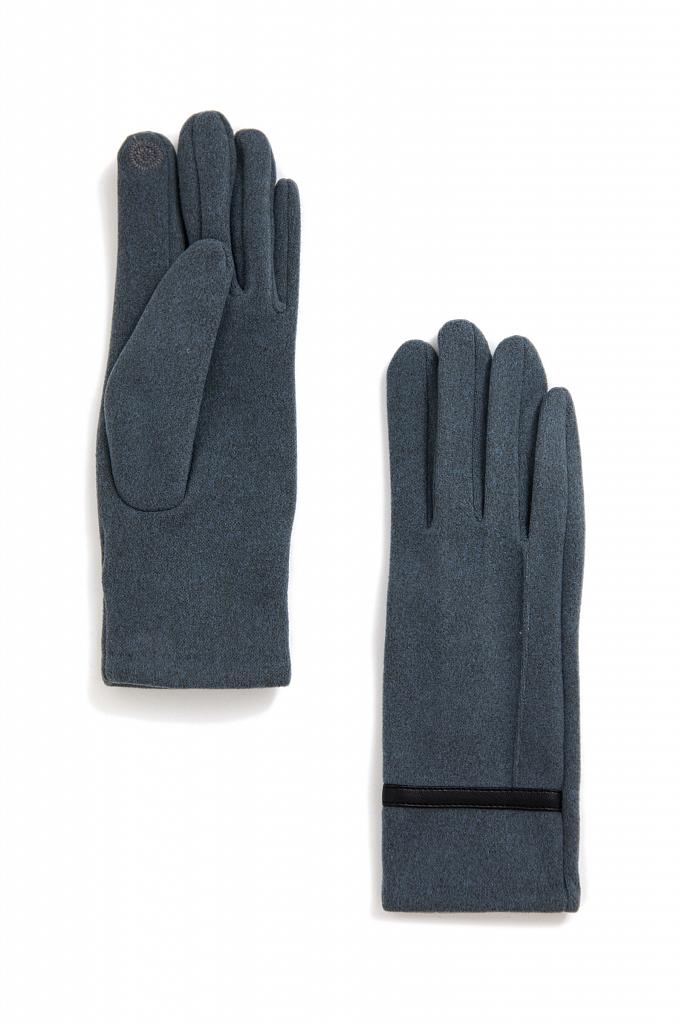 перчатки женские Finn-Flare темно-бирюзового цвета