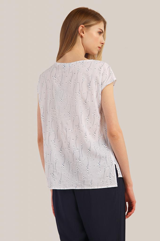 Фото 4 - блузка женская белого цвета