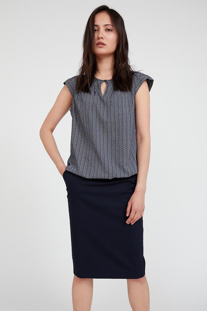 блузка женская Finn-Flare темно-синего цвета