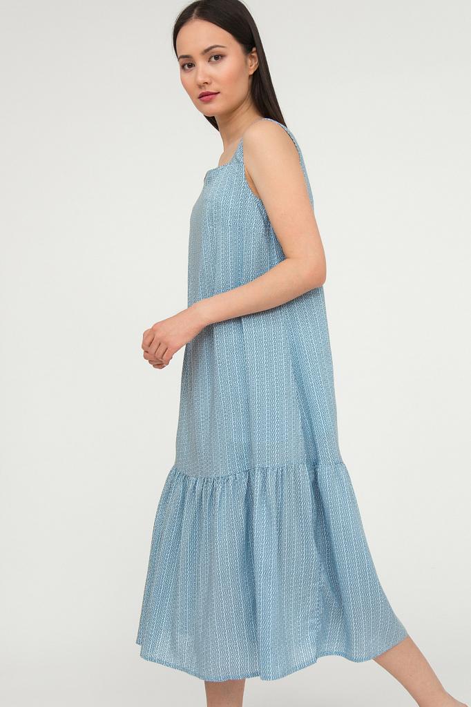 платье женское Finn-Flare голубого цвета