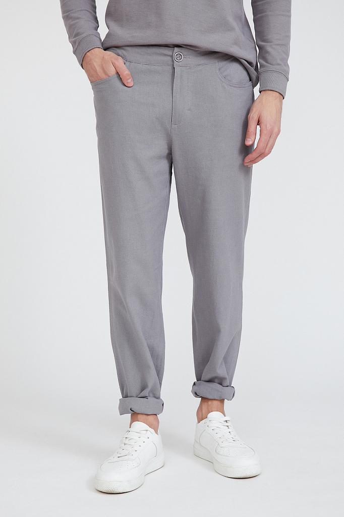 брюки мужские Finn-Flare серого цвета