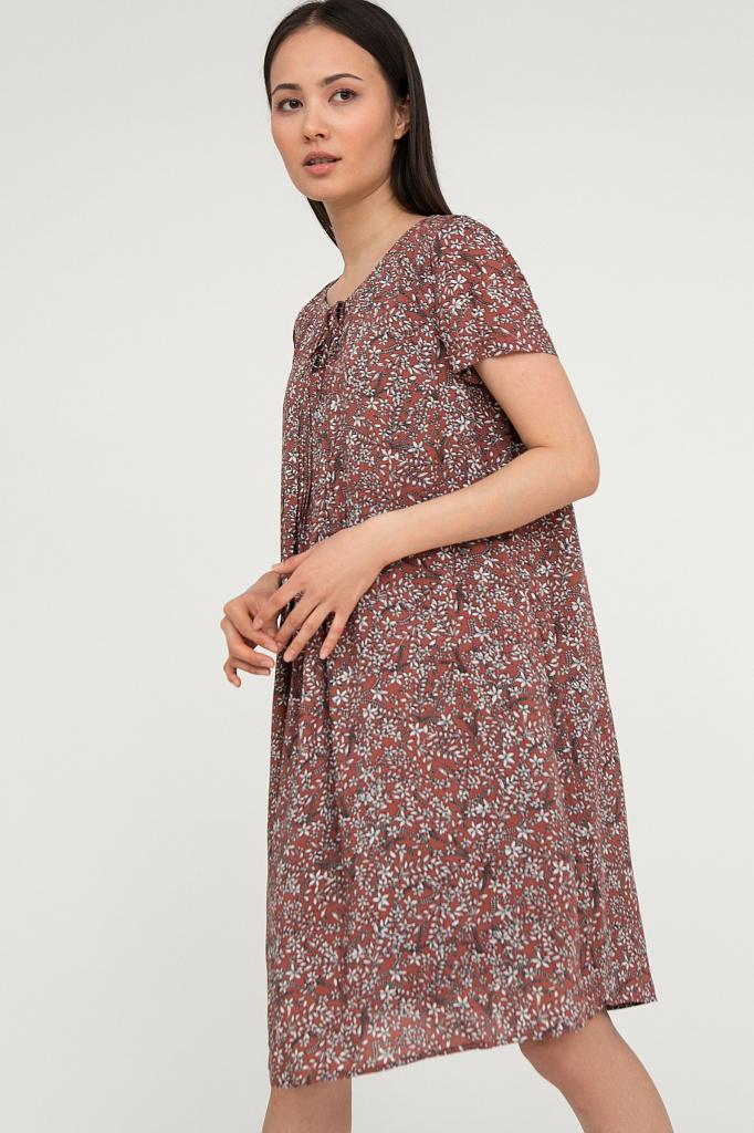 платье женское Finn-Flare темно-бордового цвета