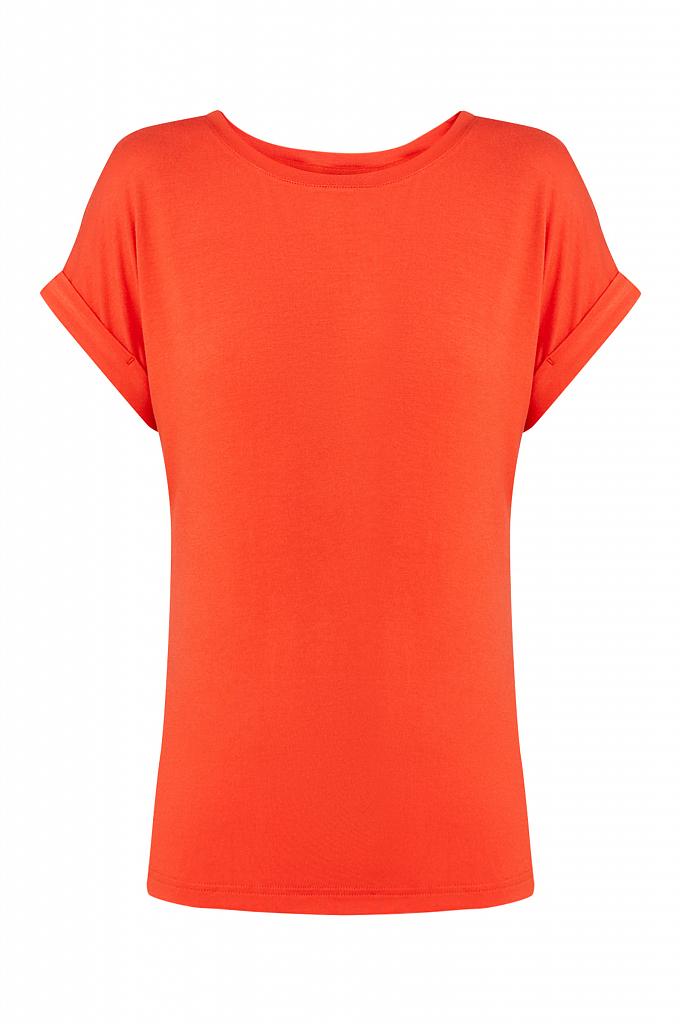 Фото 7 - футболка женская красного цвета