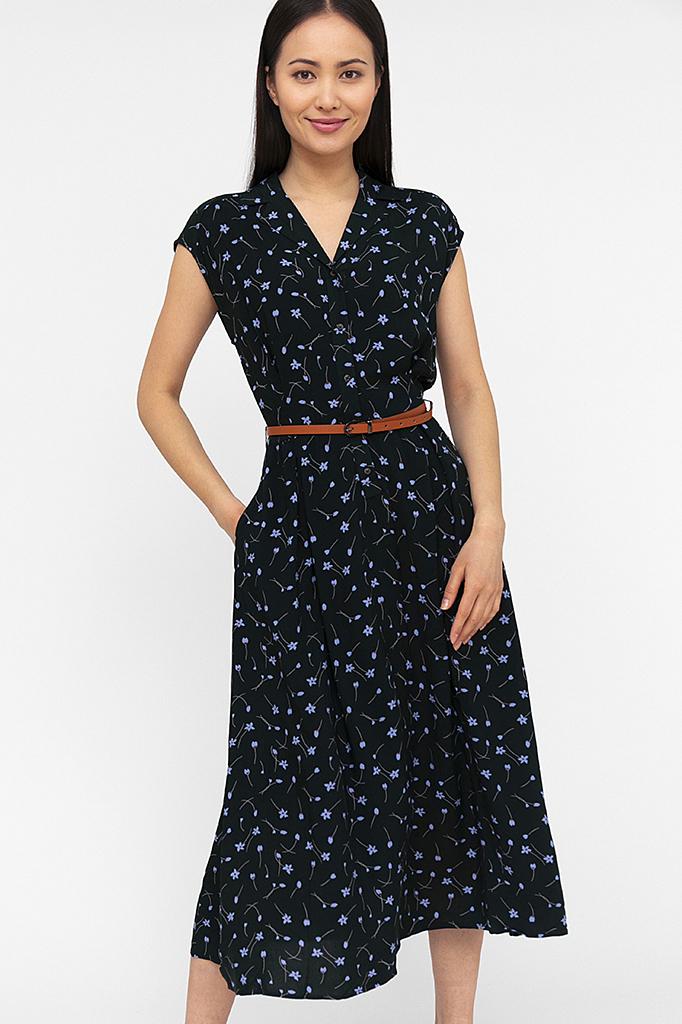 платье женское Finn-Flare темно-зеленого цвета