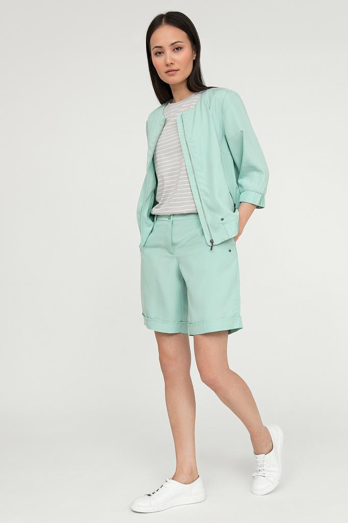шорты женские Finn-Flare цвет бежево-желудевый